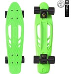 "Скейтборд RT 405-G Skateboard Fishbone с ручкой 22"" винил 56,6х15 с сумкой GREEN/black"