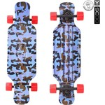 "Скейтборд RT 408-Ba Longboard Shark TIR 31"" пластик 79х22 с сумкой Blue Army BLUE/red"