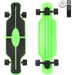 "Скейтборд RT 408-G Longboard Shark TIR 31"" пластик 79х22 с сумкой GREEN/black"