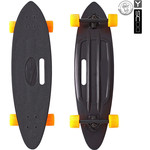 "Скейтборд RT 409-B Longboard Shark с ручкой 31"" пластик 79х22 с сумкой BLACK/orange"