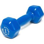 Купить Гантель Original Fit.Tools в виниловой оболочке 2 кг (Цвет - синий) FT-VWB-2 отзывы покупателей специалистов владельцев
