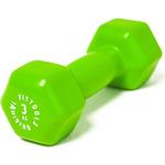 Купить Гантель Original Fit.Tools в виниловой оболочке 3 кг (Цвет - зеленый) FT-VWB-3технические характеристики фото габариты размеры