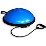 Купить Полусфера гимнастическая надувная Original Fit.Tools R2 с эспандерами и насосом FT-BSU-R2 купить недорого низкая цена