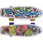 Купить Скейтборд Action CMW019 пластиковый 17 x5 купить недорого низкая цена