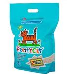 Наполнитель PrettyCat Aroma Fruit впитывающий с део-кристаллами с ароматом ванили для кошек 4кг (8л)