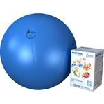 Купить Фитбол Альпина Пласт Стандарт голубой, диаметр 450 мм купить недорого низкая цена