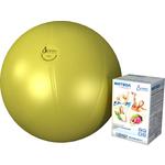 Купить Фитбол Альпина Пласт Стандарт желтый, диаметр 650 мм купить недорого низкая цена