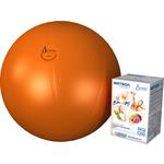 Купить Фитбол Альпина Пласт Стандарт оранжевый, диаметр 650 мм купить недорого низкая цена