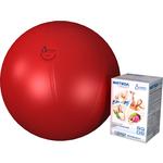 Купить Фитбол Альпина Пласт Стандарт красный, диаметр 750 мм купить недорого низкая цена
