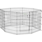"Вольер Midwest Life Stages 36"" Black Exercise Pen with Full MAX Lock Door 8 панелей 61х91h см с дверью- MAXLock черный для животных"