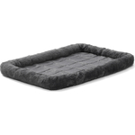 "Лежанка Midwest Quiet Time Pet Bed - Gray 24"" меховая 61х46 см серая для кошек и собак"