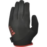 Купить Перчатки для фитнеса Adidas Essential ADGB-12421RD (с пальцами) черно/красные р. S купить недорого низкая цена