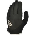 Купить Перчатки для фитнеса Adidas ADGB-12423WH (с пальцами) Essential черно/белые р. L купить недорого низкая цена