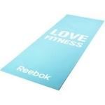 Купить Тренировочный коврик Reebok RAMT-11024BLL (мат) для фитнеса тонкий Love (голубой)