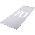 Купить Тренировочный коврик Reebok RAYG-11030YG (мат) для йоги двухсторонний 4мм YO-GA купить недорого низкая цена