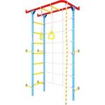 Купить Детский спортивный комплекс Romana Karusel S4 (ДСКМ-3С-7.06.410.03-69) красно/голубойтехнические характеристики фото габариты размеры
