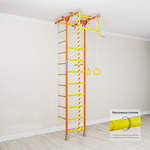 Купить Детский спортивный комплекс Romana Kometa 1 (ДСКМ-2-8.06.Т.490.18-08) оранжевыйтехнические характеристики фото габариты размеры