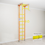 Купить Детский спортивный комплекс Romana Kometa 2 (ДСКМ-2-8.06.Г.490.18-11) оранжевый купить недорого низкая цена