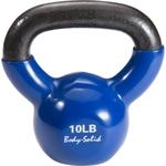 Купить Гиря Body Solid 4,5 кг (10lb) обрезиненная синяя KBV(KVC)10 купить недорого низкая цена