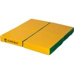 Купить Мат PERFETTO SPORT № 11 (100 х 100 10) складной (4 сложения) зелёно- жёлтый