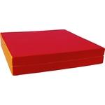 Купить Мат КМС № 10 (100 х 150 10) складной (1 сложение) красно- жёлтый 2626 купить недорого низкая цена