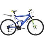 Купить Велосипед Challenger Desperado Lux FS 26 D синий- зелёный- голубой 18'' купить недорого низкая цена