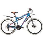 Купить Велосипед Stark 18 Voxter 26.4 FS D голубой- оранжевый- чёрный 18 купить недорого низкая цена