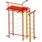 Купить Детский спортивный комплекс Пионер 10ЛМ красно- жёлтый купить недорого низкая цена