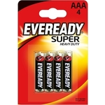 Батарейка ENERGIZER солевая Eveready Super Heavy Duty R03 мизинец 4шт