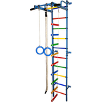 Купить Детский спортивный комплекс Формула здоровья Карапуз-5А Плюс синий/радуга купить недорого низкая цена