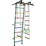 Купить Детский спортивный комплекс Формула здоровья Стелла-1С Плюс зелёный/радуга купить недорого низкая цена