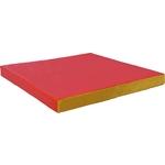 Купить Мат КМС № 2 (100 х 100 10) красно-жёлтый купить недорого низкая цена