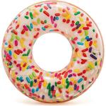 Купить Круг надувной Intex Пончик глазурь 114 см (56263)технические характеристики фото габариты размеры