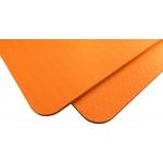 Купить Коврик для йоги Original Fit.Tools 8 мм однослойный оранжевый купить недорого низкая цена
