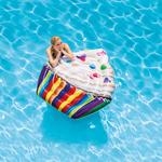 Купить Надувной плотик Intex Кекс 142x135 см 58770технические характеристики фото габариты размеры