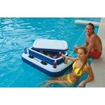 Купить Плавающий холодильник Intex 122х97 см ''River Runs'' с подстаканниками 58821технические характеристики фото габариты размеры