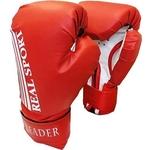 Купить Перчатки боксерские RealSport Leader 10 унций красный купить недорого низкая цена
