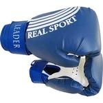 Купить Перчатки боксерские RealSport Leader 10 унций синий купить недорого низкая цена