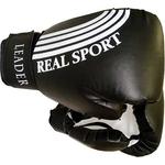 Купить Перчатки боксерские RealSport Leader 10 унций черный купить недорого низкая цена