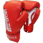 Купить Перчатки боксерские RealSport Leader 4 унций красный купить недорого низкая цена