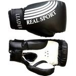 Купить Перчатки боксерские RealSport Leader 4 унций черный купить недорого низкая цена