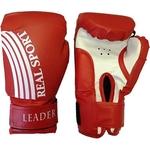 Купить Перчатки боксерские RealSport Leader 6 унций красный купить недорого низкая цена