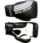 Купить Перчатки боксерские RealSport Leader 6 унций черный купить недорого низкая цена