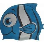Купить Шапочка для плавания Dobest силиконовая Рыбка YS10 (синяя) купить недорого низкая цена