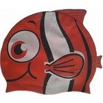 Купить Шапочка для плавания Dobest силиконовая Рыбка YS20 (красная) купить недорого низкая цена