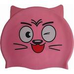 Купить Шапочка для плавания Dobest силиконовая с ушками CA-T20 (розовая) купить недорого низкая цена