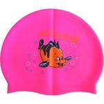 Купить Шапочка для плавания Dobest силиконовая с рисунком RH-C10 (розовая) купить недорого низкая цена