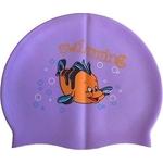 Купить Шапочка для плавания Dobest силиконовая с рисунком RH-C20 (фиолетовая) купить недорого низкая цена