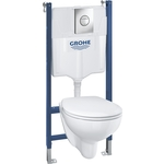 Комплект унитаза Grohe Solido Bau Ceramic Bundle с сиденьем микролифт (39415000)