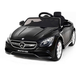 Детский электромобиль Harleybella Mercedes Benz S63 LUXURY 2.4G - Black - HL169-LUX-B